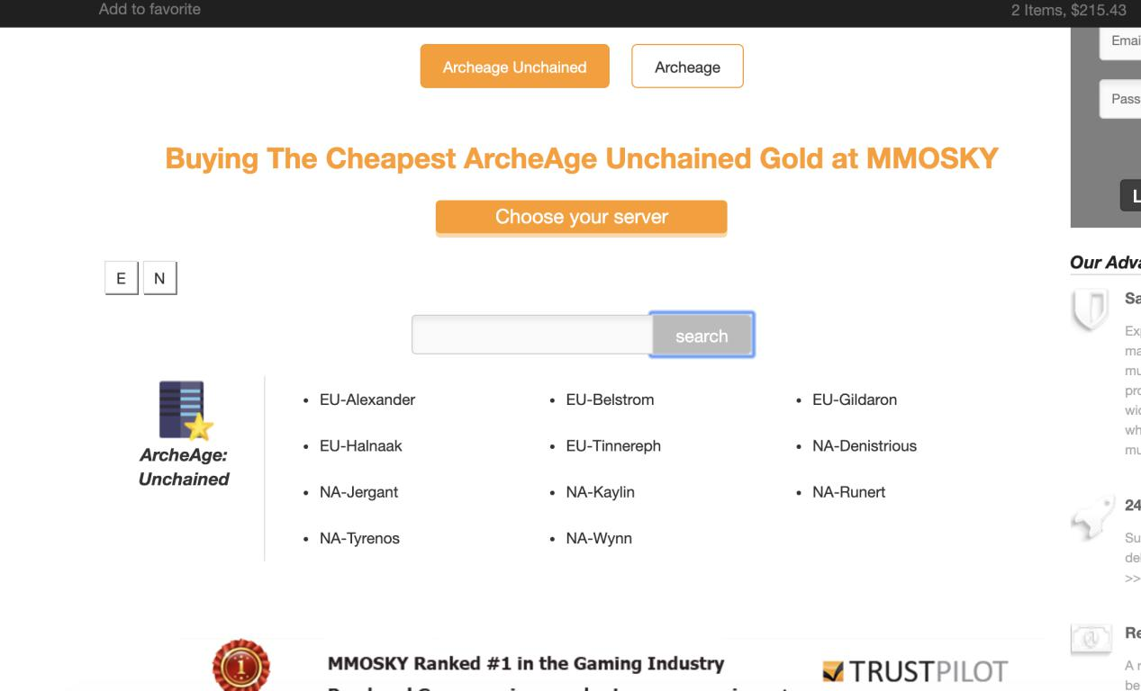 buy archeage unchained gold step3