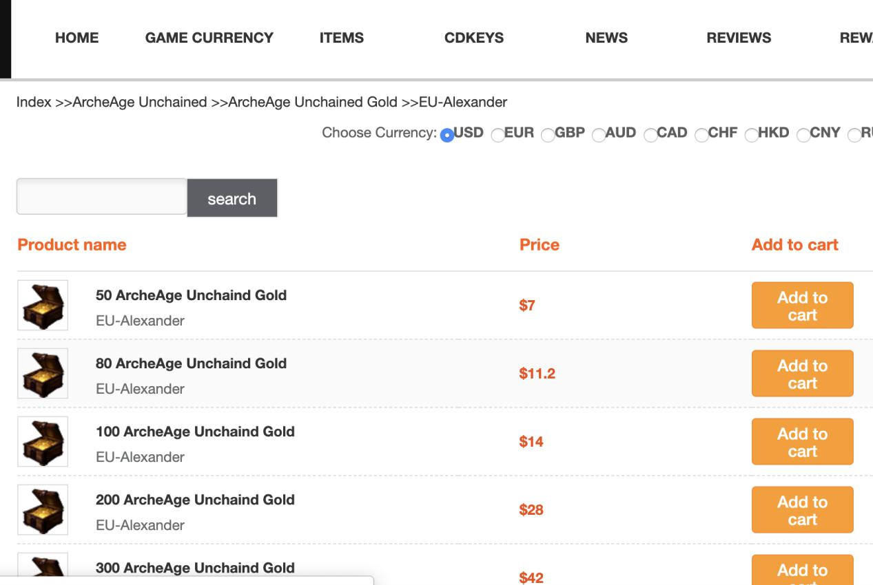 buy archeage unchained gold step4